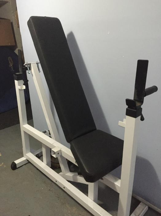 Body Solid Adustable Weight Bench And Attached Bench Press Saanich Victoria Mobile