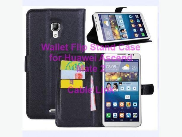 New Folio Magnetic Wallet Flip Stand Case for Huawei Ascend Mate 2
