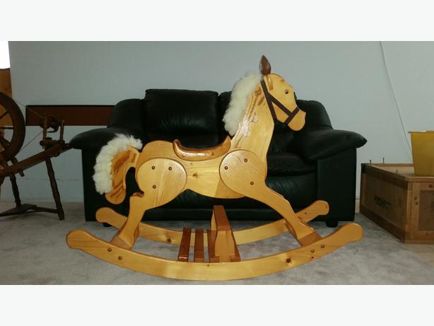 Rocking horse west shore langford colwood metchosin for Hand crafted rocking horse