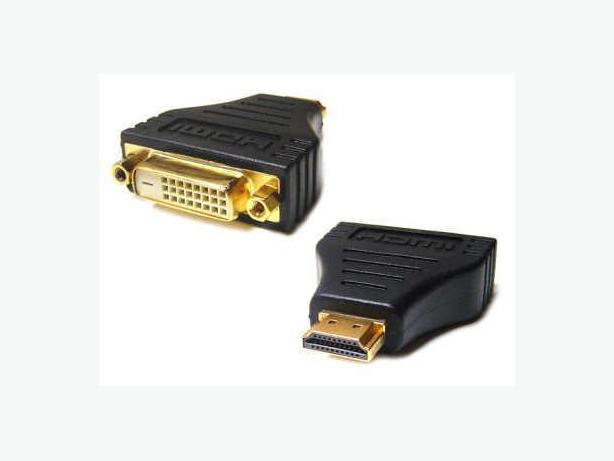 HDMI (M) to DVI 24+1 Pin (F) Video Converter Adapter
