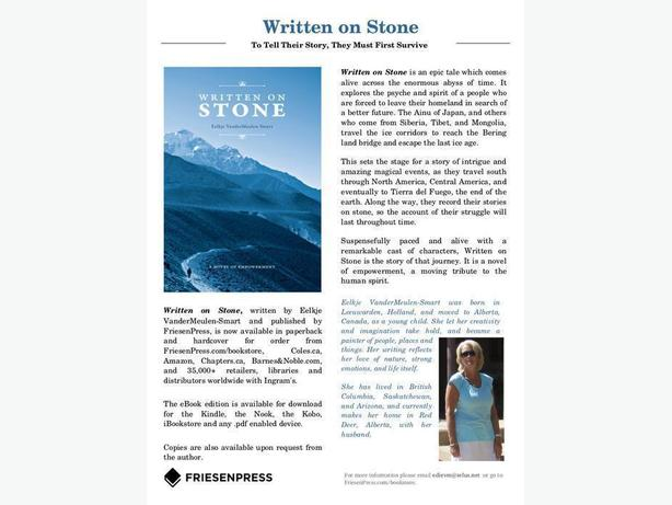 "- ""WRITTEN ON STONE"" - A Novel of Empowerment -"