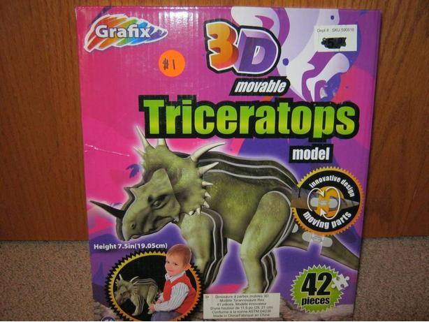 3D Triceratops Movable Model