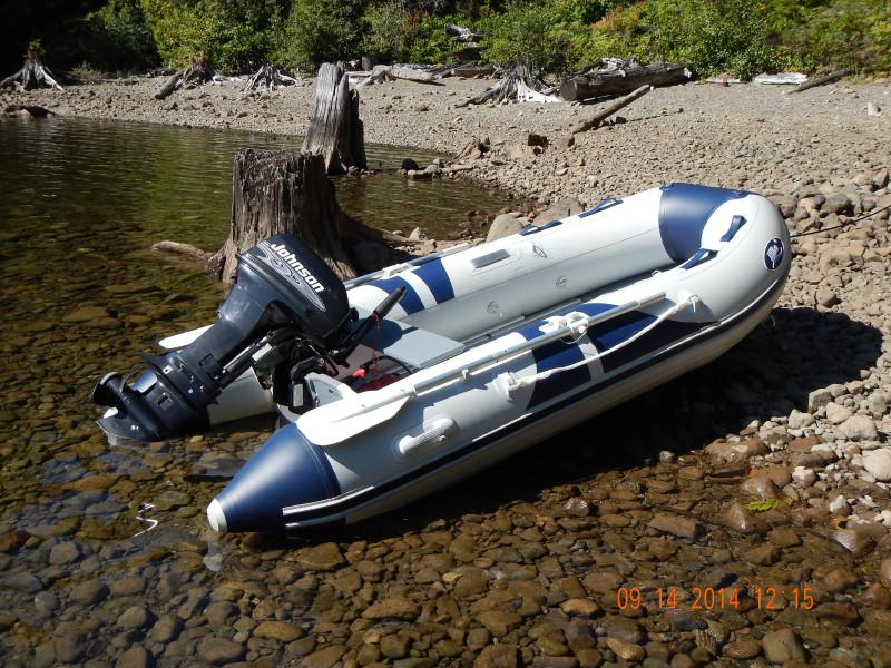 10ft Inflatable Boat With Aluminum Floor And 9 9hp Motor