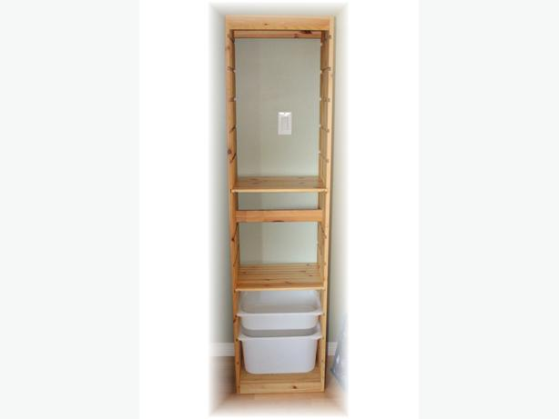 ikea trofast frame with shelves and storage boxes west shore langford colwood metchosin. Black Bedroom Furniture Sets. Home Design Ideas