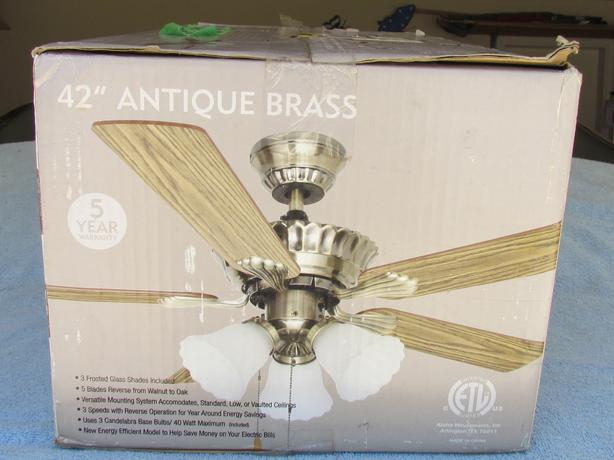Ceiling Fan Light Brass Central Nanaimo Parksville