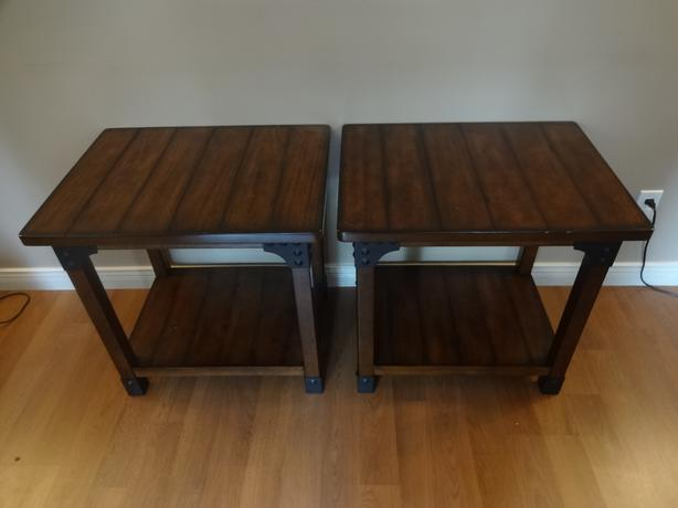 Solid Wood Coffee Table 2 End Tables Saanich Victoria