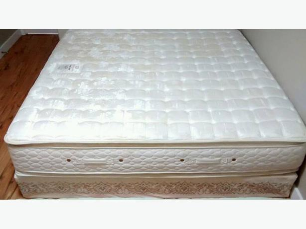 Double pillow top king mattress with boxspring campbell for Dual pillow top mattress