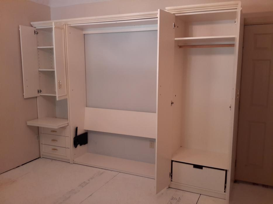 Murphy Beds Gatineau : White queen murphy bed custom made by wall beds of
