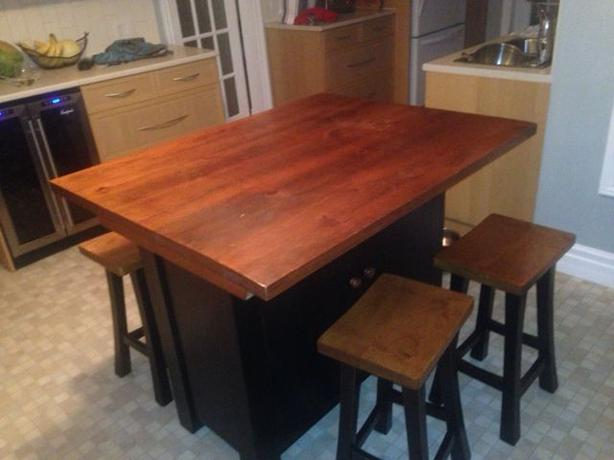 For Sale Counter Height Table With 4 Stools Kanata Ottawa