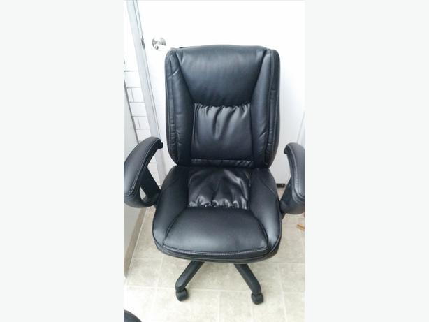 Leather Office Chair West Shore Langford Colwood Metchosin Highlands