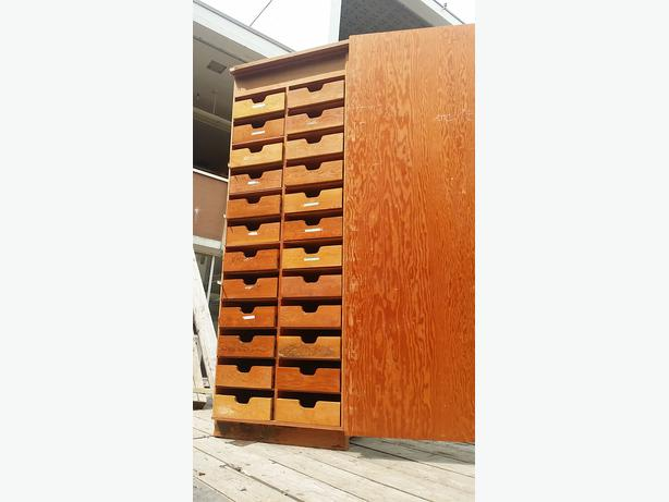 Plywood Construction 24 Drawer Storage Cabinet Pantry From