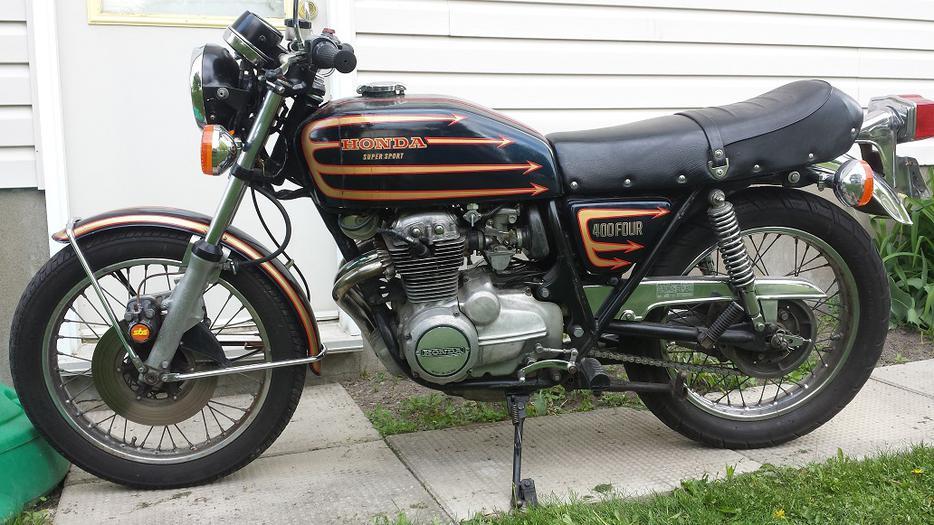 1975 honda cb 400f rare vintage cafe stlye motorcycle orleans ottawa. Black Bedroom Furniture Sets. Home Design Ideas