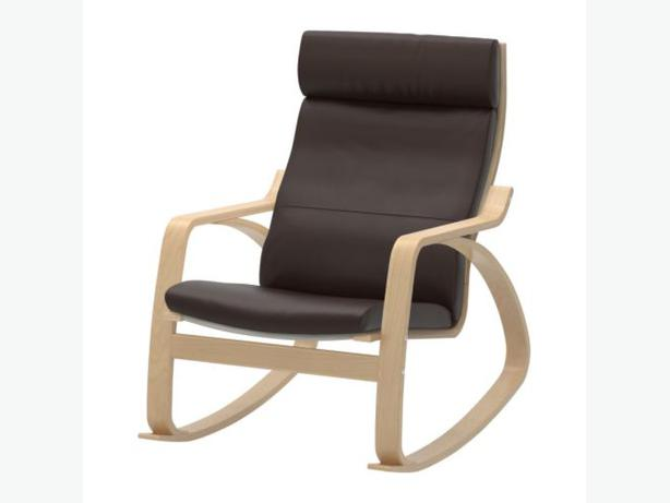 ... with dark brown leather cushion. rocking chair, ideal for nursery