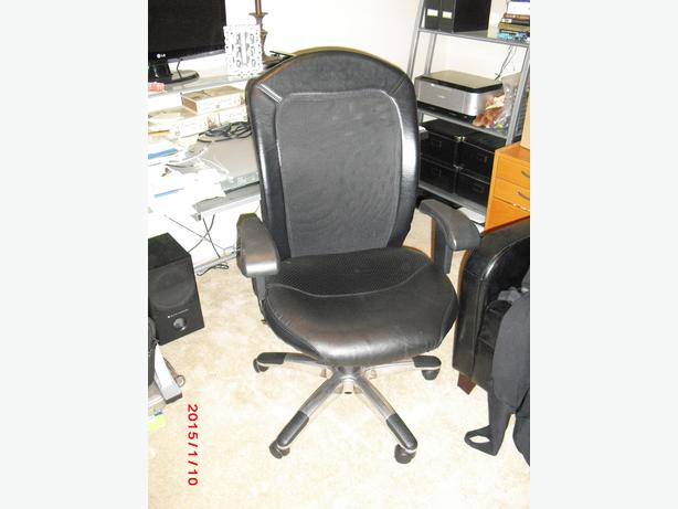 Leather and mesh back office chair esquimalt view royal for Super comfy office chair