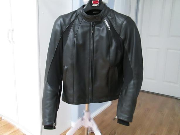 Shift leather motorcycle jacket