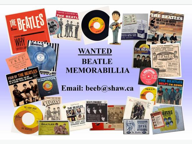 WANTED: Beatles memoribilia and collections