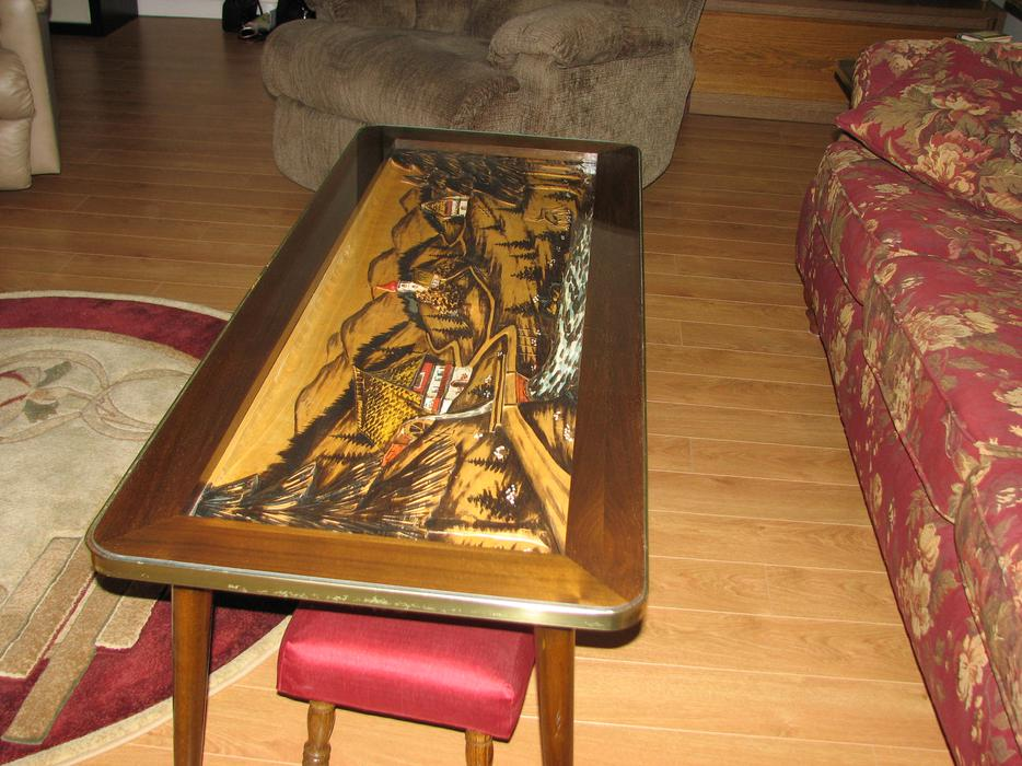 Coffee Table Black Forest Hand Carved Kanata Ottawa