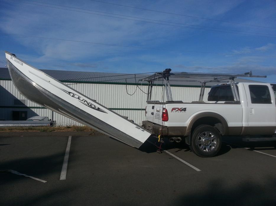 Aluminum Boat Racks : Boat loader aluminum truck rack north saanich sidney