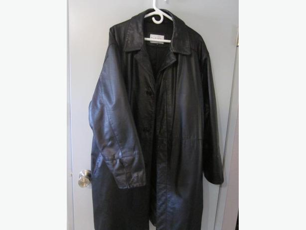 Guy Laroche leather coat