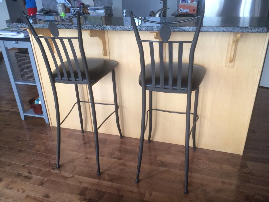 Two bar stools chairs for sale north west calgary