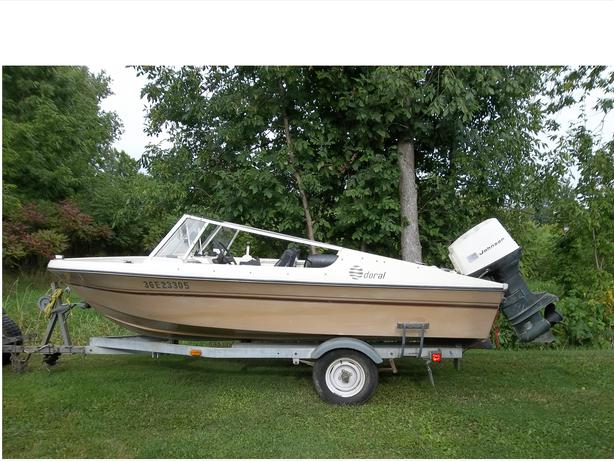 Nice 15 foot doral fishing boat motor trailer for Nice fishing boats