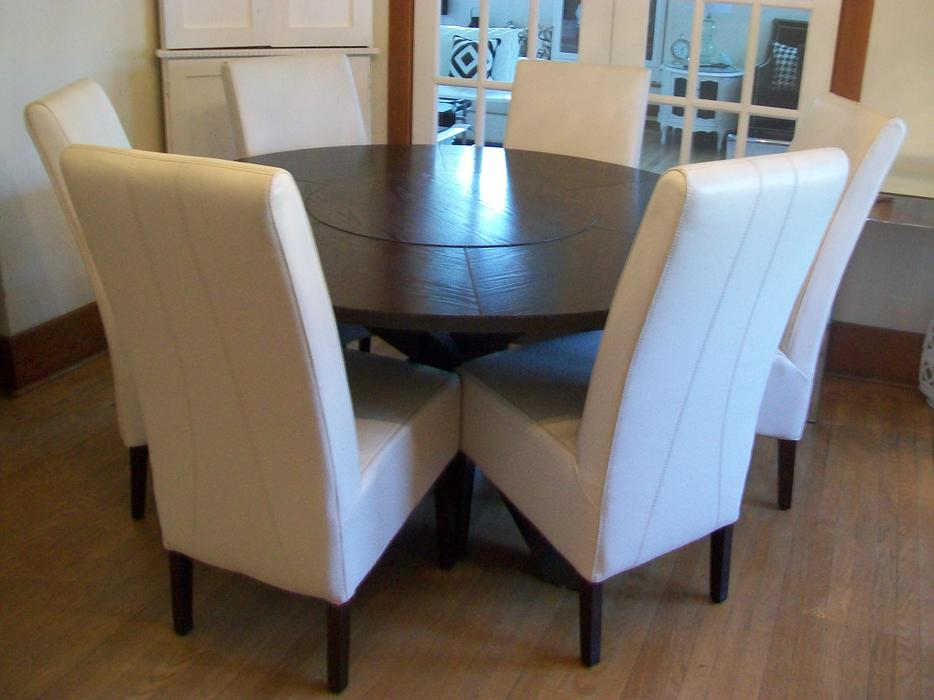Gorgeous round dining room table can deliver rideau for Dining room tables kelowna