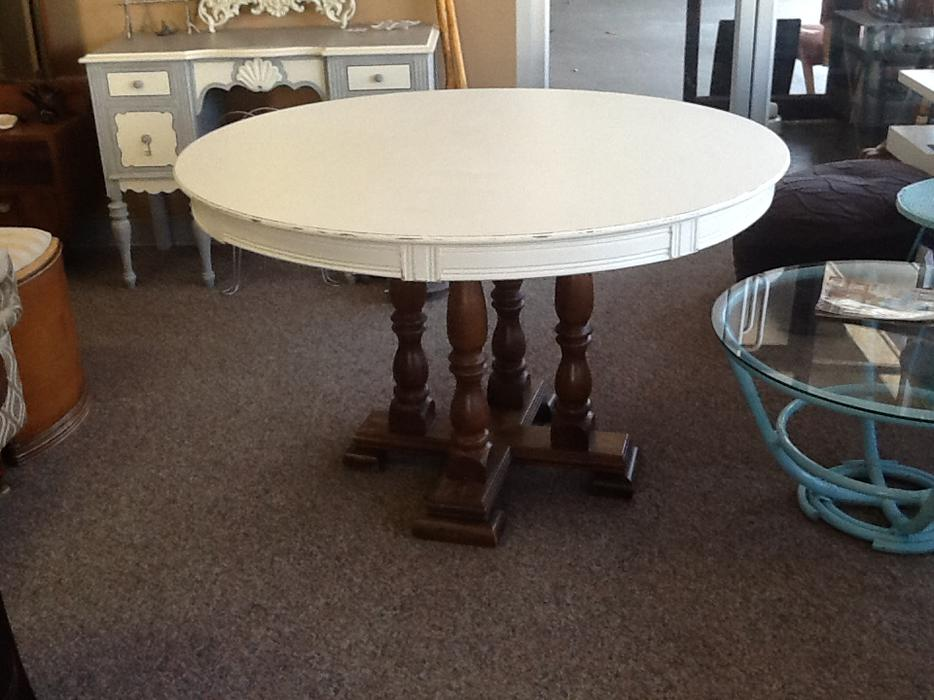 Round Dining Room Table Refurbished Esquimalt View Royal Victoria