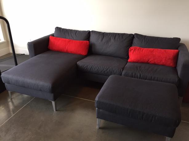Ikea Karlstad Sofa Ottoman & Chair Central Saanich Victoria