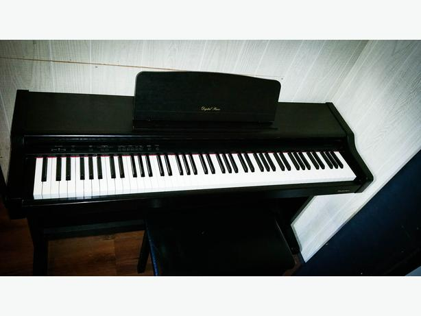 technics full size digital piano with bench outside. Black Bedroom Furniture Sets. Home Design Ideas
