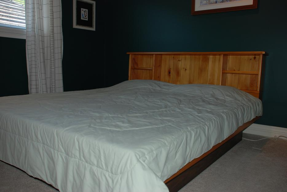 Cal King Bookcase Headboard: Pine Waterbed (cal-king, Bookcase Style) Ready For