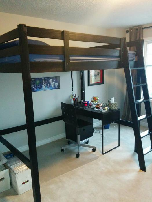 black ikea stora loft bed full size outside ottawa gatineau area