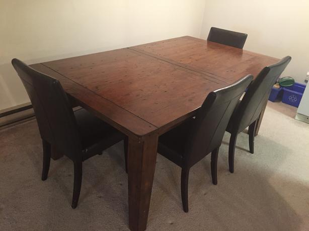 irish coast large extension dining room table & bench