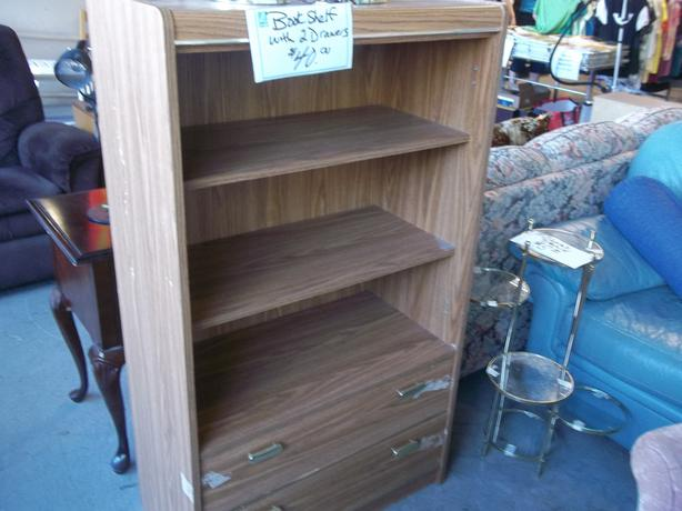 Was 40 Bookcase With Storage Drawers For Sale At St Vincent De Paul On Quadra Saanich Victoria