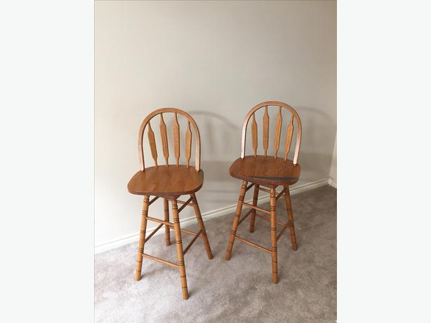 FREE Wooden bar stools with backrest Saanich Victoria  : 48075913614 from www.usedvictoria.com size 614 x 461 jpeg 21kB
