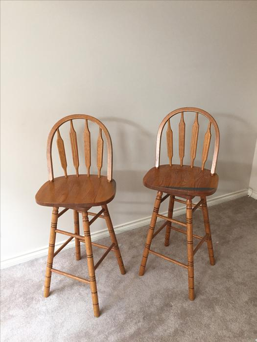 FREE Wooden bar stools with backrest Saanich Victoria  : 48075913934 from www.usedvictoria.com size 525 x 700 jpeg 41kB