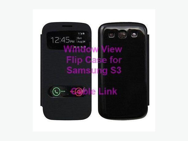 Window View Flip Case for Samsung S3
