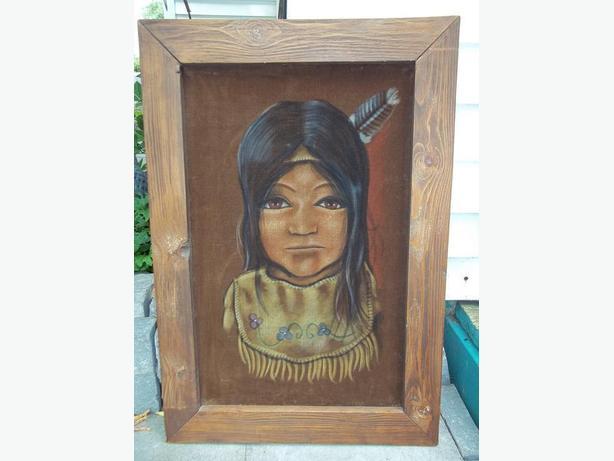 Native Painting on Velvet