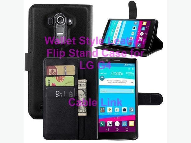 Flip Wallet Stand Leather Case for LG G4