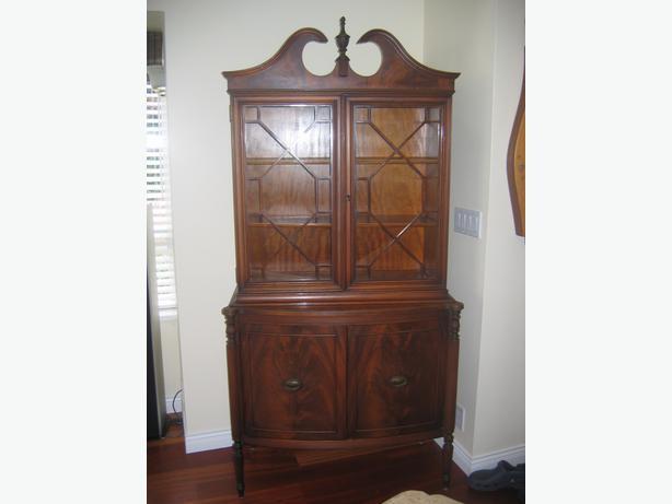 Small Antique China Cabinet Saanich, Victoria