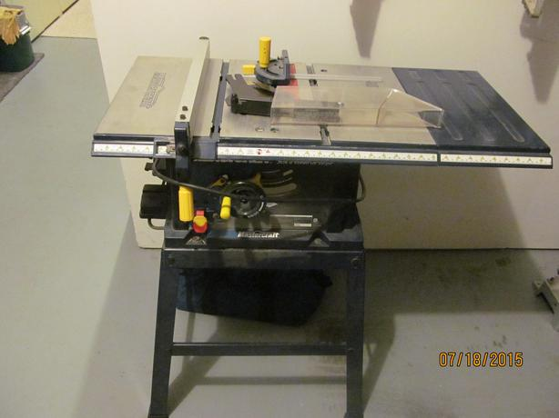 mastercraft hawkeye laser table saw manual