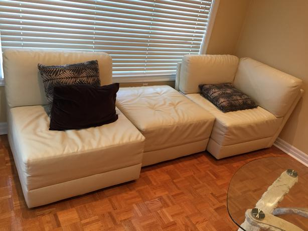 5 Piece Sectional Leather Sofa Vaughan Toronto