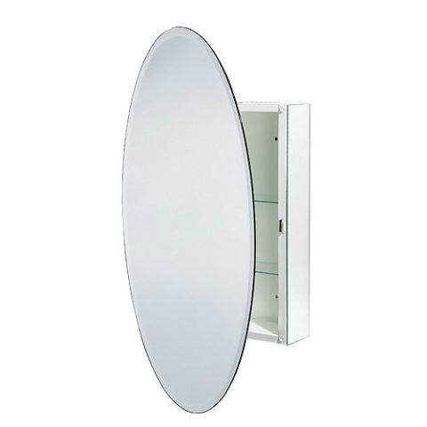 oval mirror with hidden medicine cabinet outside ottawa. Black Bedroom Furniture Sets. Home Design Ideas