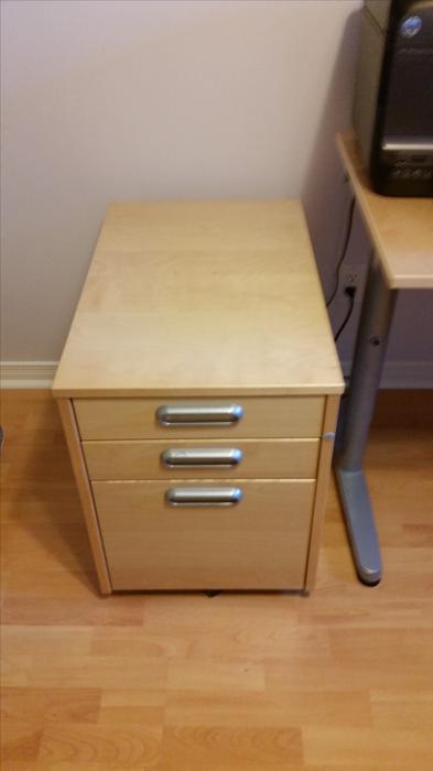 ikea galant desk and 3 drawer cabinet nepean ottawa mobile. Black Bedroom Furniture Sets. Home Design Ideas