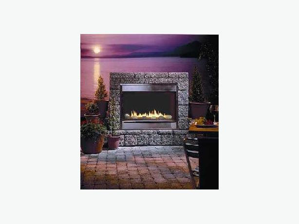 Montigo Natural Gas Outdoor Vent Free Stainless Steel Fireplace Oak Bay Victoria Mobile