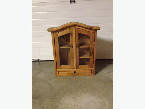 wooden enclosed shelf with drawers saanich  victoria