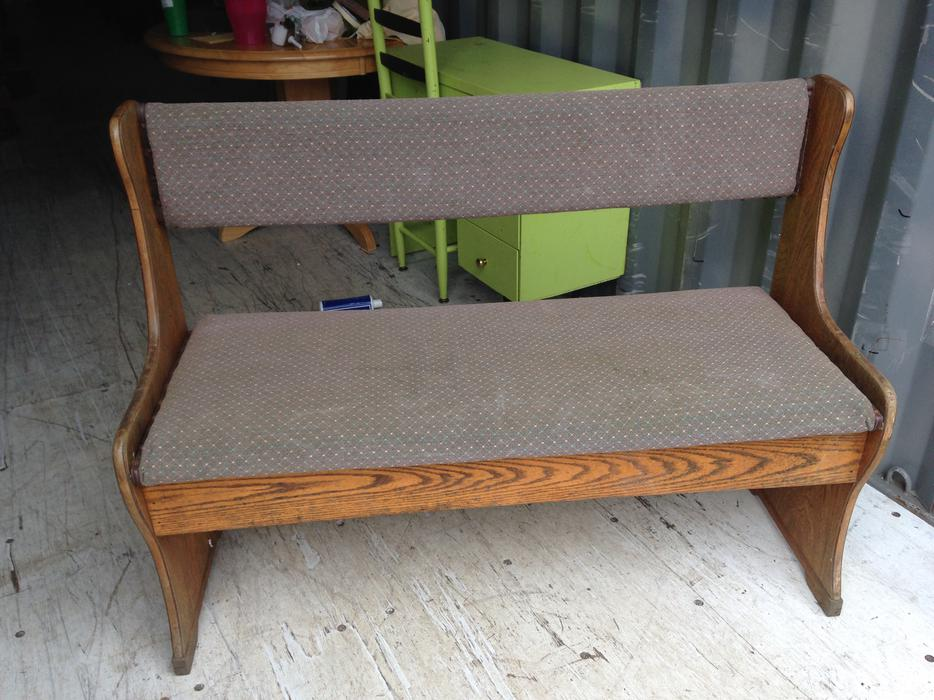 Used Foyer Bench : Antique hallway entryway bench central nanaimo