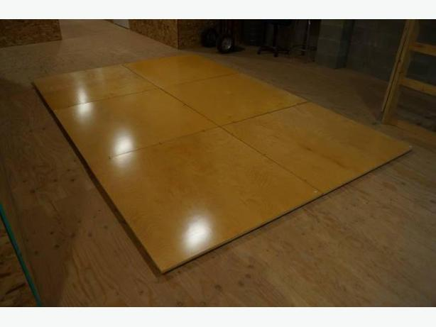 8 ft x 12 ft SEMI-PORTABLE  MODULAR DANCE FLOOR