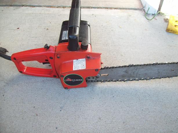 how to put chain back on craftsman electric chainsaw