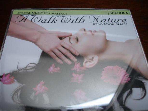 Set of 2 Special Music CD For Massage A Walk With Nature Relaxation Series