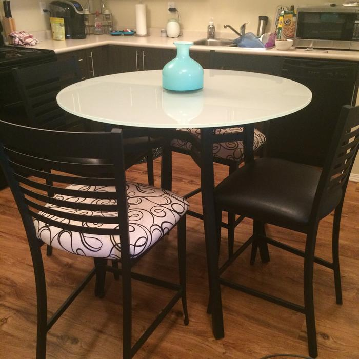 Dining table and four chairs rural regina